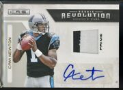 Cam Newton Rc 2011 Panini Rookies And Stars Auto Patch Rookie Revolution Sp 05/10