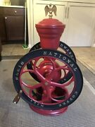 Woodruff And Edwards Elgin National Coffee Mill Grinder 42 Table Top Antique