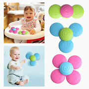 3pcs New Suction Cup Spinning Top Toy Table Game Traditional Educational Infant