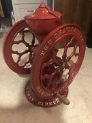 Rare Antique The Cha's Parker Co. Meriden Conn. Model 700 Coffee Grinder Mill