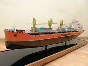 Vintage Soviet Quadro Nikolaev Container Carrier Ship Museum Model Of 70and039s.