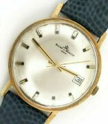 Baume And Mercier Classic Dress-watch 14k Solid Gold 35 Mm