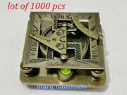 Lot Of 1000 Antique Vintage Brass Compass Maritime Nautical Square Sundial