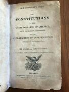 1813 Americanand039s Guide Constitutions Of United States Of America Philadelphia
