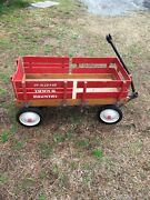 Vintage Radio Flyer Red Wooden Wagon 1960andrsquos Town And Country.