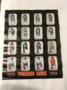 Vintage Nba Phoenix Suns 1982 - 1983 Team Poster Players And Coaches