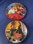 Edwin M Knowles China Co Gone With The Wind Plate 's 10200e And 202sd Nib