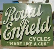 1930and039s Old Antique Vintage Rare Royal Enfield Cycles Porcelain Enamel Sign Board
