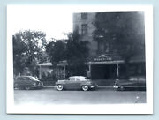 Hot Springs South Dakota 1949 View Of Evans Hotel And Old Cars Vtg Photo Snapshot