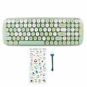Vintage Computer Wireless Keyboard 100 Keys Bluetooth5.1 For Windows Android Ios