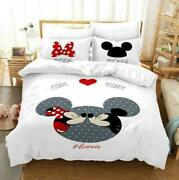 3d Mickey Minnie Mouse Bedding Set Kids Duvet Cover Comforter Cover Pillow Case