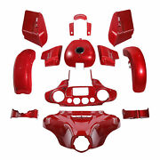 Fairing Bodywork Fit For Harley Street Glide 2018 2019 Wicked Red Glossy 14-2021