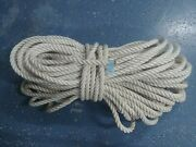 New England Rope Boat Anchor Dock Line 3/4x 207and039 Twisted 3 Strand Nylon White