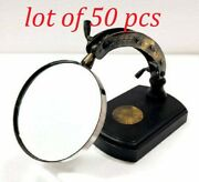 Antique Brass Movable Magnifying Glass Nautical Table Decor Lot Of 100 Pcs