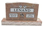 Cemetery Granite Headstone 42 X 6 X 20 Includes Engraving Free Shipping