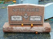 Cemetery Granite Headstone 36 X 6 X 20 Includes Engraving Free Shipping