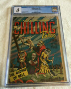 Chilling Tales 15 Cgc 0.5 Centerfold Missing - Youthful Magazines 1953