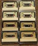 Ampex Plus Series Superior Audio Cassette Tapes Lot Of 34 Gently Used Blanks
