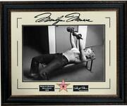 Marilyn Monroe Pumping Iron Photo Framed With Laser Engraved Signature