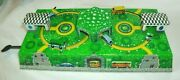 Vintage Toy Tin Lithograph Wind Up Bus Gas Station/garage Key Works