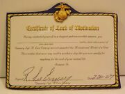 N Certificate Of Lack Of Motivation Signed Autograph Gunnery Sgt R. Lee Ermey