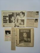 Liza Minnelli Rare Collection 32 Clippings 1985-1989 Archive Of The Eighties