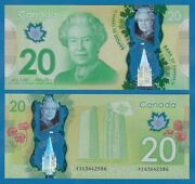 Canada 20 Dollars P 108b 2012 Unc Polymer Wilkins And Poloz Low Shipping P 108 B
