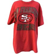 Vintage San Francisco 49ers 1993 Football Red Tee Shirt Size Large