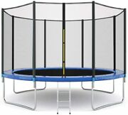 5/6/8/12ft Kids Trampoline With Safety Enclosure Net In/outdoor Toys For Gift
