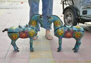 Chinese China Antique Cloisonne Success Lucky Animal Horse Feng Shui Statue