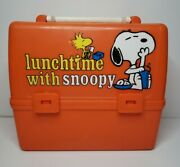 Vintage Peanuts 1965 School Days With Snoopy Lunch Box Plastic Lunch Time Snoopy
