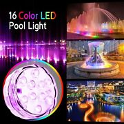 Swimming Pool Light 16 Rgb Led Bulb Underwater Color Vase Decor Lights And Remote