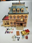 Playmobil 5300 Victorian Mansion Dollhouse W Extra Furniture Lot 5620 Car