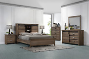 New Rustic Brown Queen King 5pc Set Sliding-door Farmhouse Furniture Bed/d/m/n/c