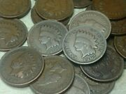 1907 Indian Head Cent Half-roll - 25 Coins Nice Condition