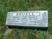 Cemetery Granite Bevel Headstone 48 X 14 X 6 Includes Engraving Free Shipping