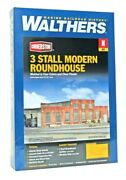 N Scale Walthers Cornerstone 933-3260 3-stall Modern Roundhouse Building Kit