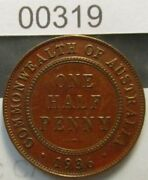 Australia Halfpenny 1936m See Images For Grade A Good Hole Filler