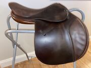 Used Tad Coffin A5g 2002 17.5andrdquo Close Contact/jumping Saddle Great Condition