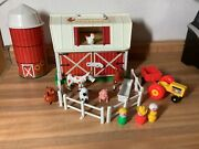 Vintage Fisher Price Little People Farm Barn And Silo 1986