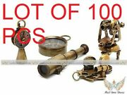 Set Of 5 Gift Pcs Nautical Solid Brass Vintage Antique Style Key Chain Keyrings