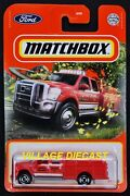 2021 Matchbox 29 Ford F-550 Superduty Indian Red / Matchbox Fire Rescue / Moc