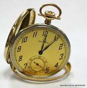 Antique American Watch Co. Waltham 14k Solid Gold Pocket Watch Open Face