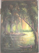 African Madagascar Post Impressionist Oil Painting By Pasi  23 X 33