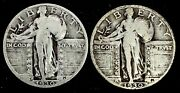 1930 P-s 25c Silver Standing Liberty Quarter Dollar Us Coins Year Set.