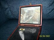 Train Jackknife In Woodenandnbsp Collectors Box With Train Picture And Velvet Lining