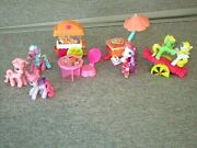 My Little Pony 30 Ponies 2 Some Specialty Popcorn Table Boat Mermaid ++lot P11