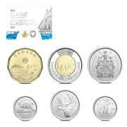 2021 Canada Classic Canadian Uncirculated 6-coin Set W/box And Coa