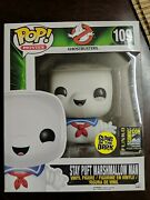 Funko Pop Ghostbusters Stay Puft Marshmallow Man Sdcc 2014 Exclusive Gitd 109