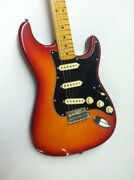 Fender Rarities Collection Flame Ash Top Stratocaster Electric Guitar Plasma Red